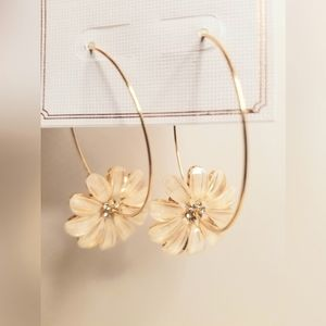 3 for $15 Gold Hoop Flower Charm Earrings